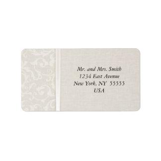 Collection naturelle de mariage de SmartElegance Étiquette D'adresse