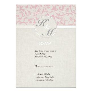 Collection rose de mariage de SmartElegance Carton D'invitation 11,43 Cm X 15,87 Cm