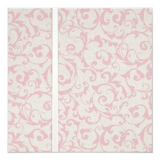 Collection rose de mariage de SmartElegance Carton D'invitation 13,33 Cm