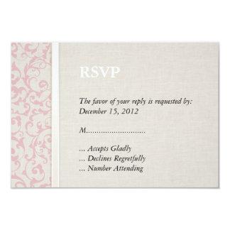 Collection rose de mariage de SmartElegance Carton D'invitation 8,89 Cm X 12,70 Cm