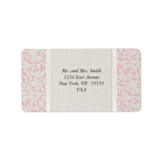 Collection rose de mariage de SmartElegance Étiquette D'adresse