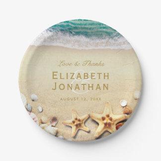 Collection tropicale vintage de mariage d'étoiles assiettes en papier