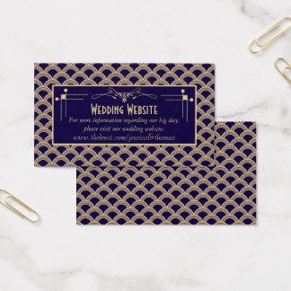 Collection vintage de mariage de Gatsby d'art déco Cartes De Visite