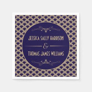 Collection vintage de mariage de Gatsby d'art déco Serviettes Jetables