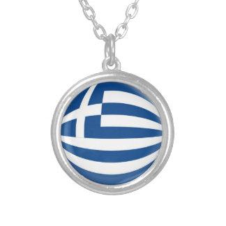 """Collier + 18"""" drapeau à chaînes de la Grèce"""