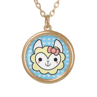 Collier adorable de lama de Kawaii