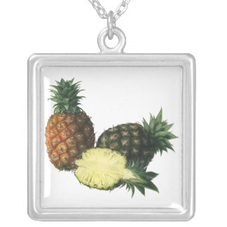 Collier Ananas hawaïens vintages, fruit d'aliment