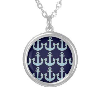 Collier ancres nautiques bleues