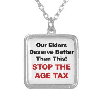 Collier Arrêtez l'impôt d'âge