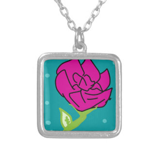 Collier arrière - plan rose de bleu de fleur