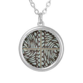 Collier Art de motif de pierre de perle d'étincelle sur