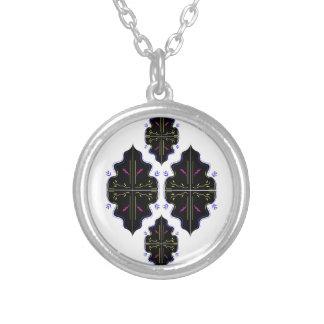 Collier Art oriental noir et blanc de mandala