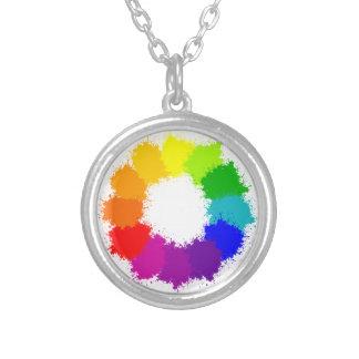 Collier Artiste de roue de couleur et professeur d'art