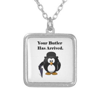 Collier Bande dessinée mignonne de pingouin de maître