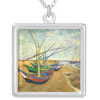 Collier Bateaux de pêche de Van Gogh sur la plage chez