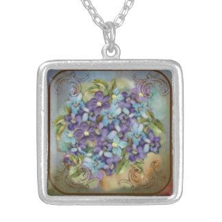 Collier Beaux bleus : Bouquet minuscule