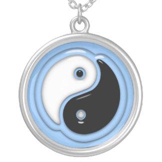 Collier Bleu en verre de Yin Yang