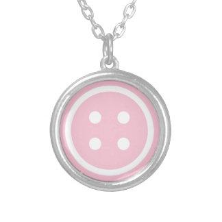 Collier Bouton de couture rose
