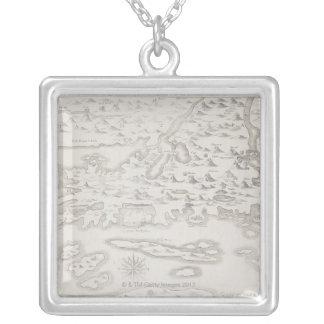 Collier Carte antique de la Croatie