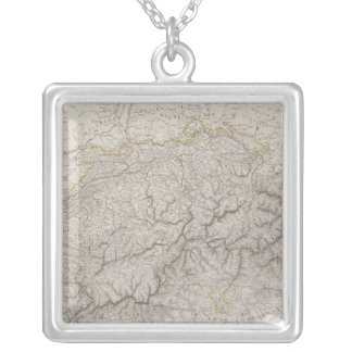 Collier Carte antique de la Suisse