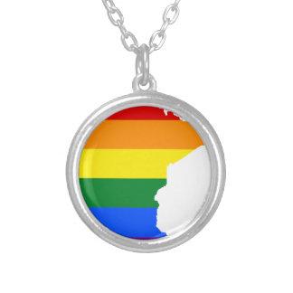 Collier Carte de drapeau du Minnesota LGBT