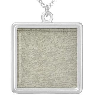 Collier Carte de la Terre Sainte