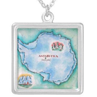 Collier Carte de l'Antarctique