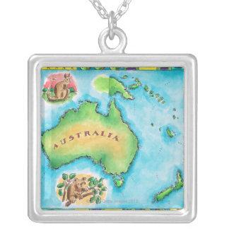 Collier Carte de l'Australie