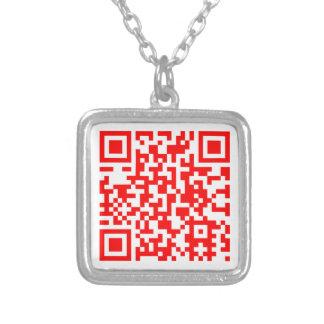 Collier Carte de visite moderne de code de QR