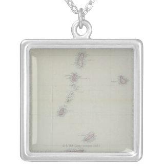 Collier Carte des Antilles