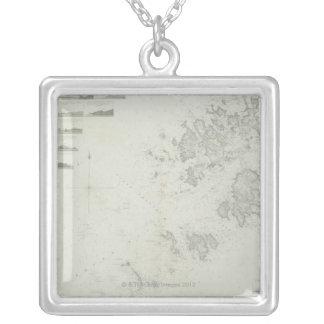 Collier Carte des îles de Scilly en Grande-Bretagne