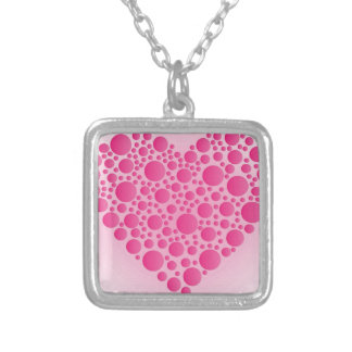 Collier Cerf rose de bulle