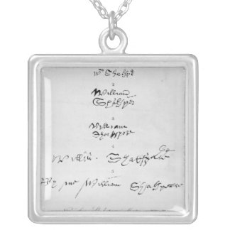 Collier Cinq autographes véritables de William Shakespeare