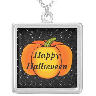Collier Citrouilles Halloween de nuit étoilée