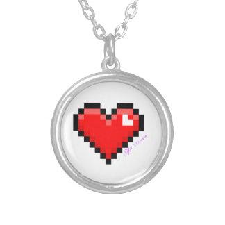 Collier coeur de pixel