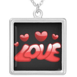 Collier Coeurs rouges d'amour