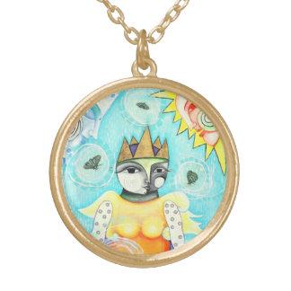 Collier coloré de charme de la Reine - finition