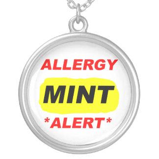 Collier Conception d'allergie de menthe d'alerte