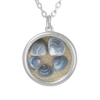 Collier Coquilles bleues