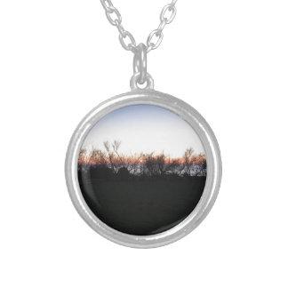 Collier Coucher du soleil de mer avec la silhouette