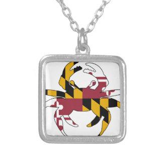 Collier Crabe de drapeau du Maryland