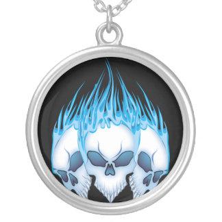 Collier Crânes flamboyants bleus