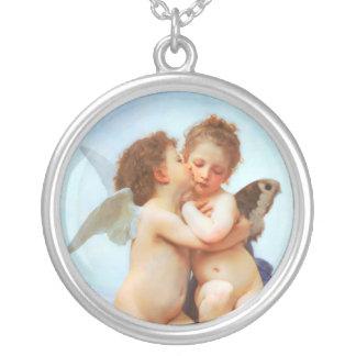Collier Cupidon et psyché comme enfants