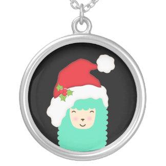 Collier de lama d'Emoji de Joyeux Noël
