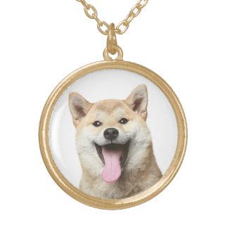 Collier de pendentif de chiot de Shiba Inu d'amour