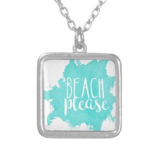 Collier De plage blanc svp