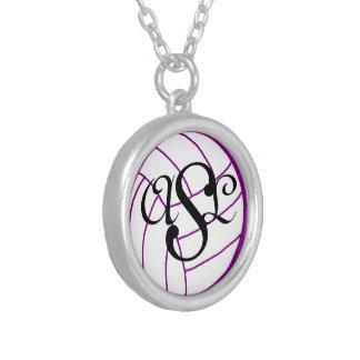 Collier de volleyball de monogramme d'initiales