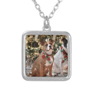 Collier Délivrance mignonne Pitbull de Noël et chien de