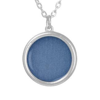 Collier Denim bleu original de treillis de mode de tissu