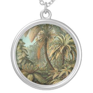 Collier Dessin botanique de palmier vintage de fougères